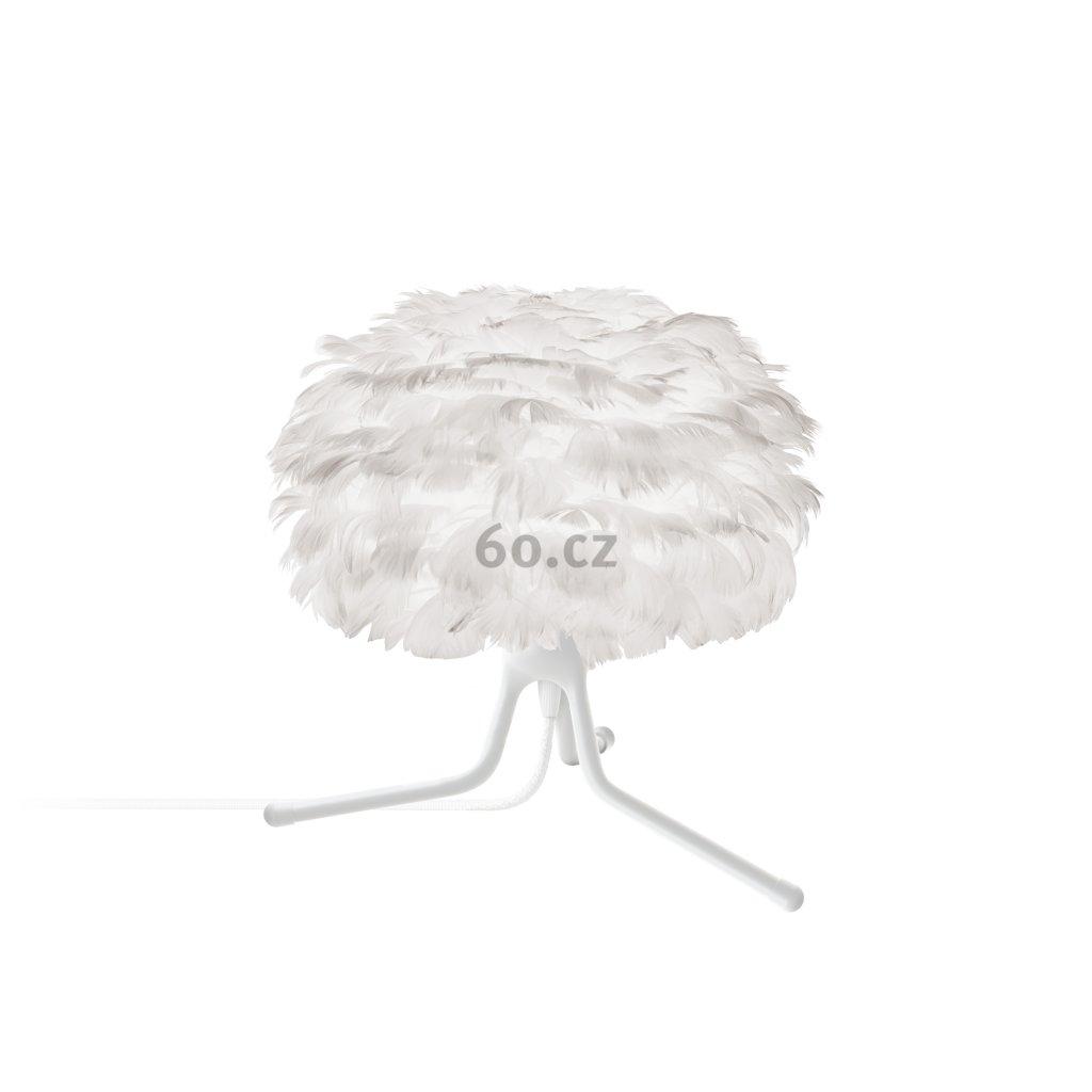 Umage Eos micro, stínidlo z bílého peří pro závěsné svítidlo, stolní a stojací lampu, 1x15W LED, prům. 22cm