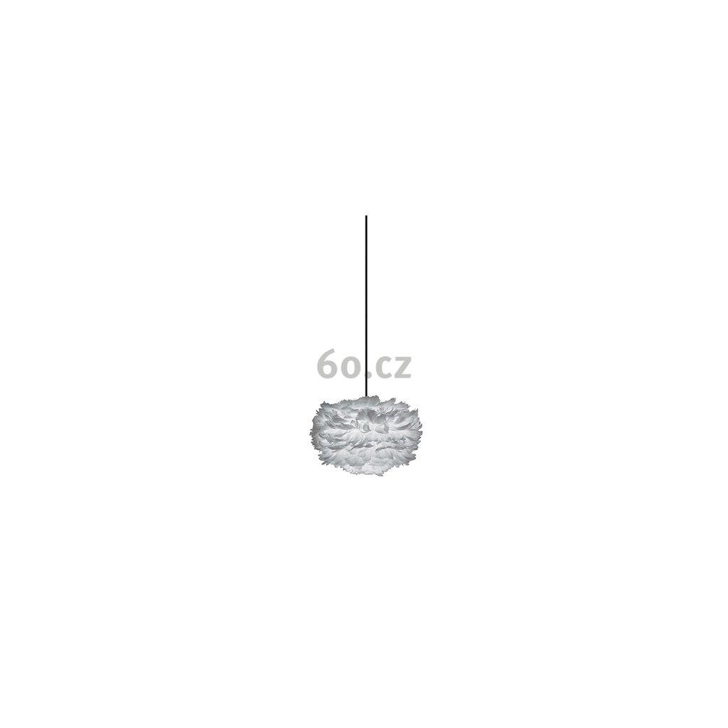 Umage Eos mini, stínidlo z šedého peří pro závěsné svítidlo, stolní a stojací lampu, 1x15W LED, prům. 35cm