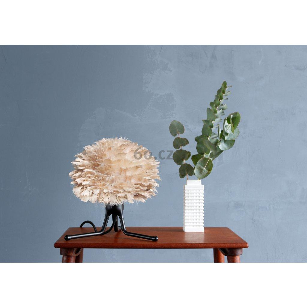 Umage Eos micro, stínidlo ze světle hnědého peří pro závěsné svítidlo, stolní a stojací lampu, 1x15W LED, prům. 22cm