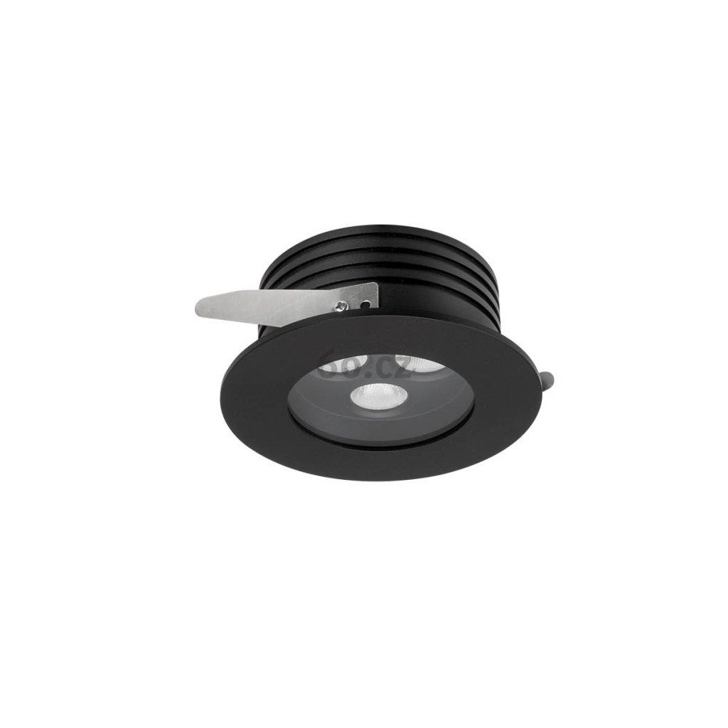 Arelux Xarea, černá zápustná bodovka do podhledu, 3x3W LED 4000K, prům.10cm, IP65
