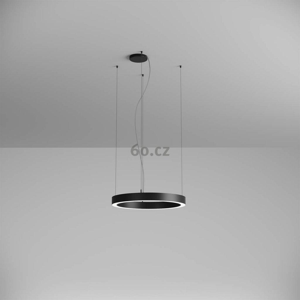 Arelux Xambit, černé závěsné kruhové svítidlo, 38W LED 4000K, prům. 60cm