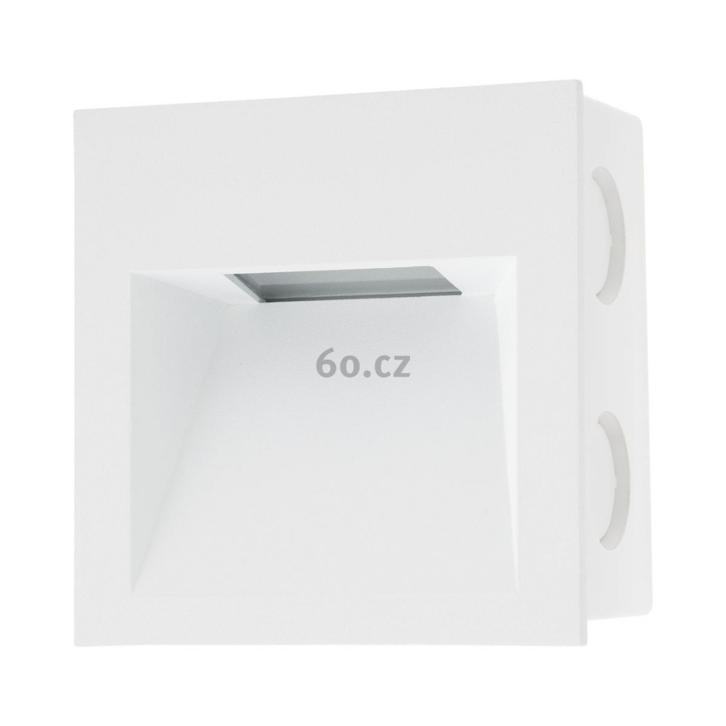 Arelux Xghost, bílé interiérové zápustné svítidlo do stěny, 2W LED 4000K, 9x9cm, IP20