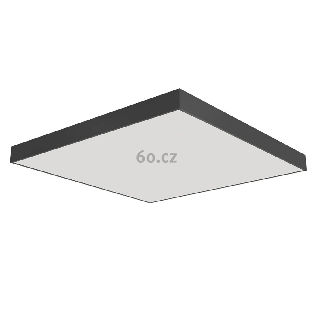 Arelux Xpill Square, černé stropní svítidlo, 80W LED 3000K, 80x80cm