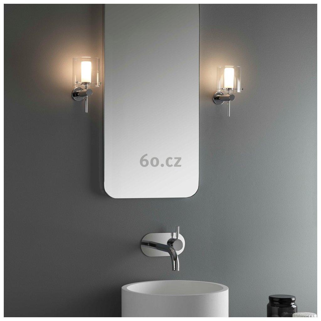 Astro Lighting Arezzo, nástěnné svítidlo do koupelny, 1x40W, výška 20,5cm, IP44