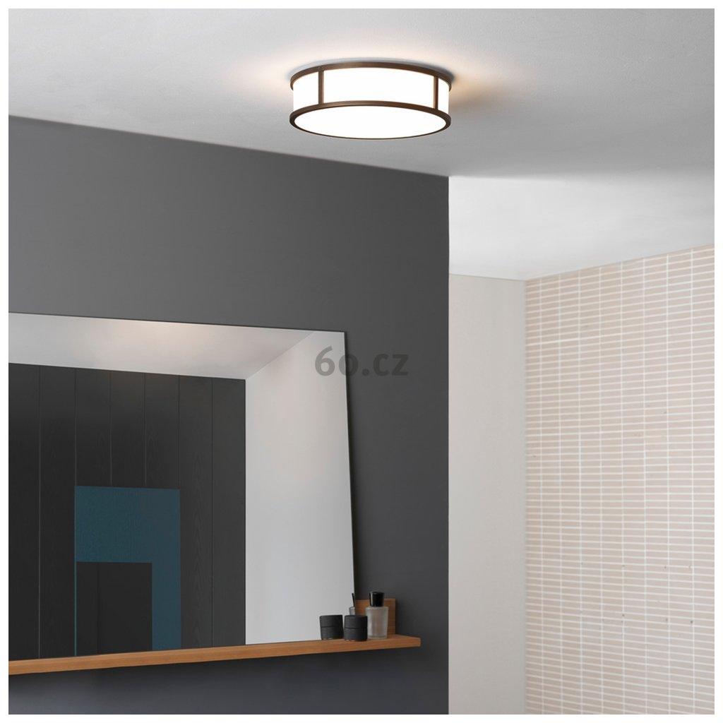 Astro Lighting Mashiko 300 Round, stropní svítidlo do koupelny, 1x60W E27, prům. 30cm, bronz, IP44