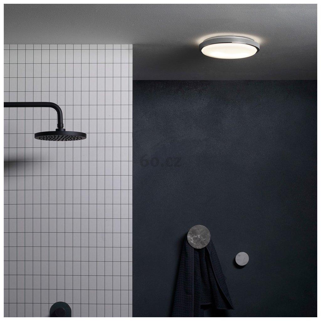 Astro Lighting Denia, stropní koupelnové svítidlo, 2x40W (úsporné), chrom, prům. 25cm, IP44