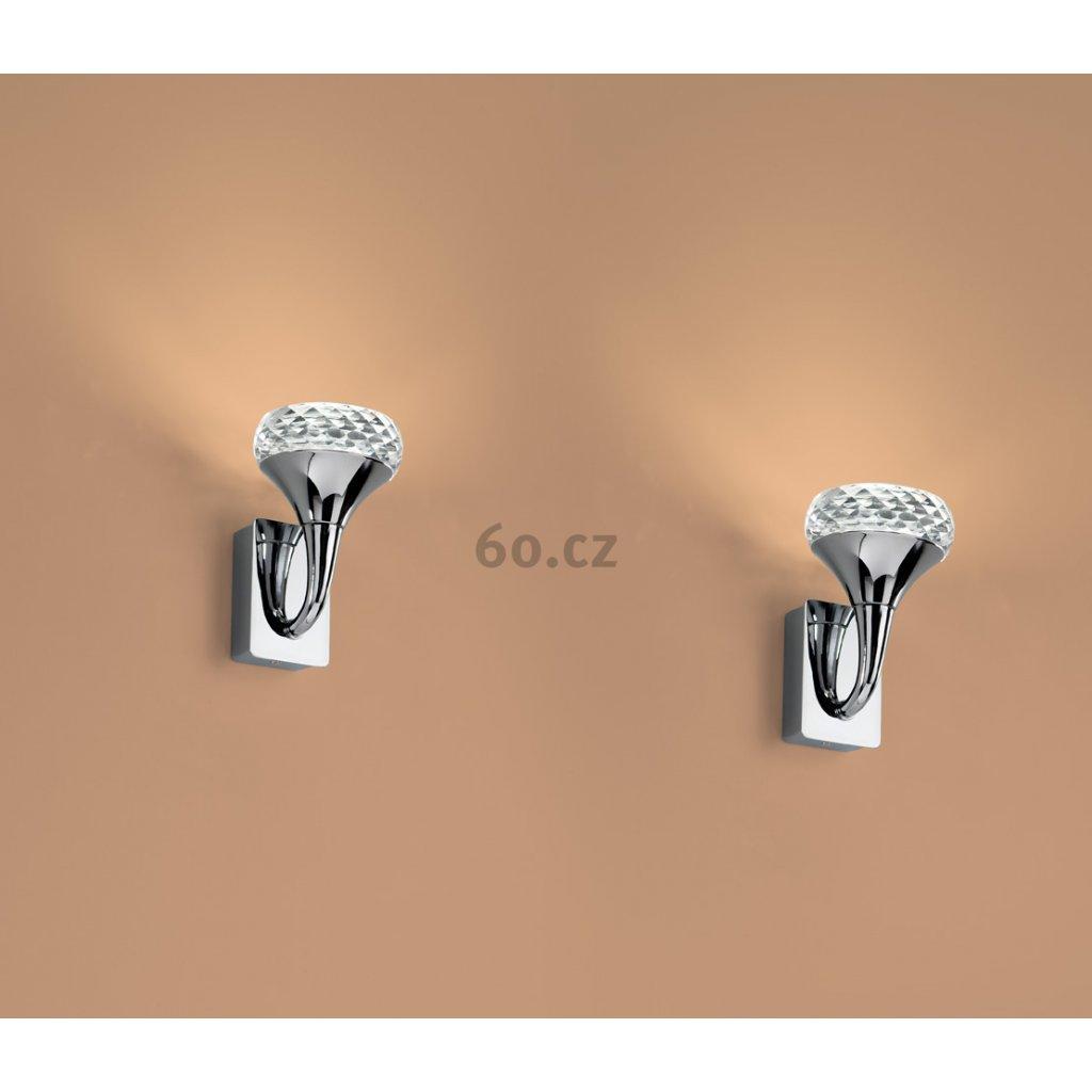 Axolight Fairy, designové nástěnné svítidlo,  1x6,6W LED, křišťálové sklo, výška 14,7cm