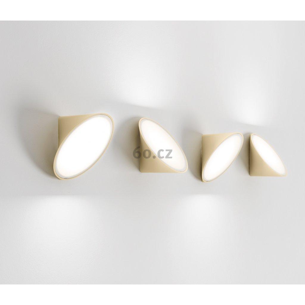 Axolight Orchid, pískově béžové nástěnné svítidlo, 1x15W LED 3000K stmívatelné, prům. 20cm