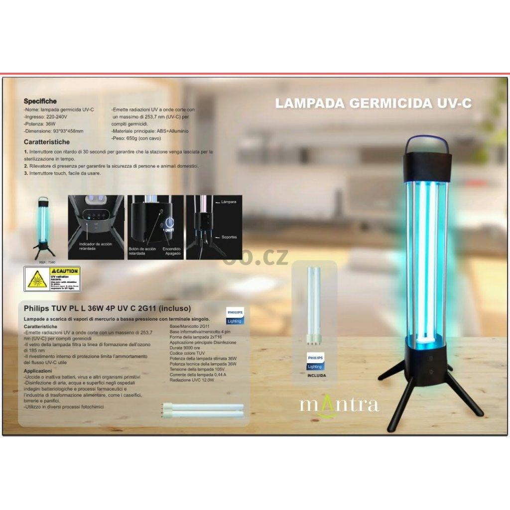Germicidní lampa MANTRA 7340 7