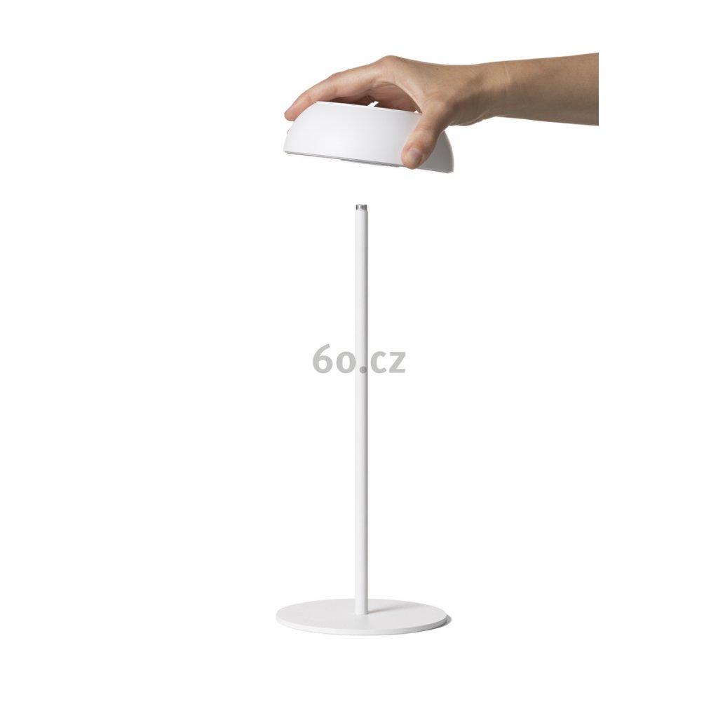 Axo Light Float, bílá přenosná lampička na baterii, 3,5W LED 2700K stmívatelná, výška 34,7cm, IP55