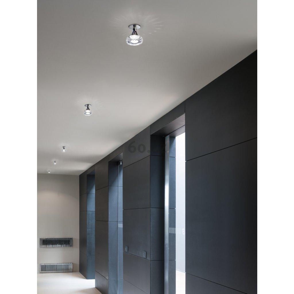 Axolight Fairy, designové stropní svítidlo, 1x6,6W LED, ambrové sklo, výška 14cm