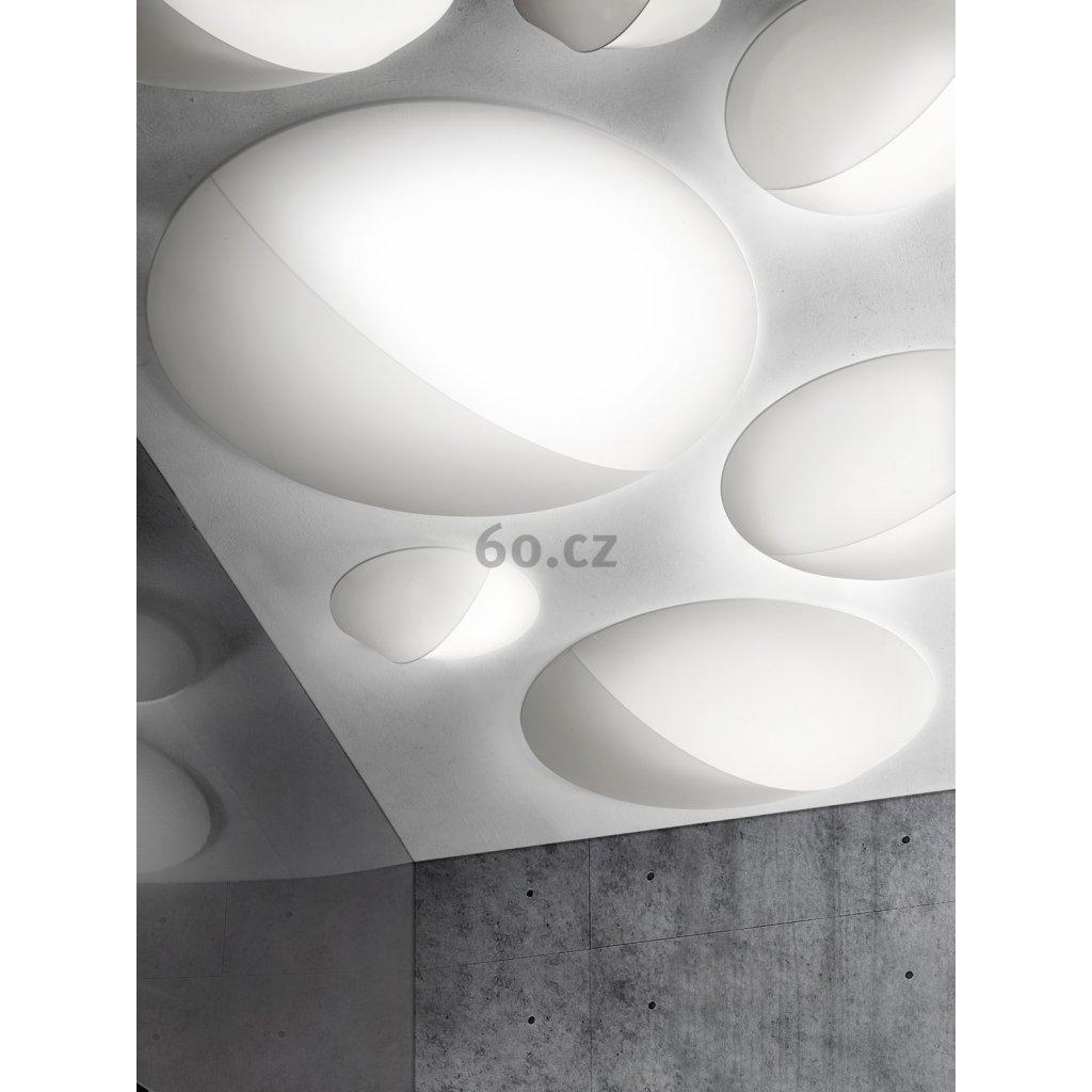 Axolight Nelly, designové svítidlo z bílého textilu, 3x70W, průměr 100cm
