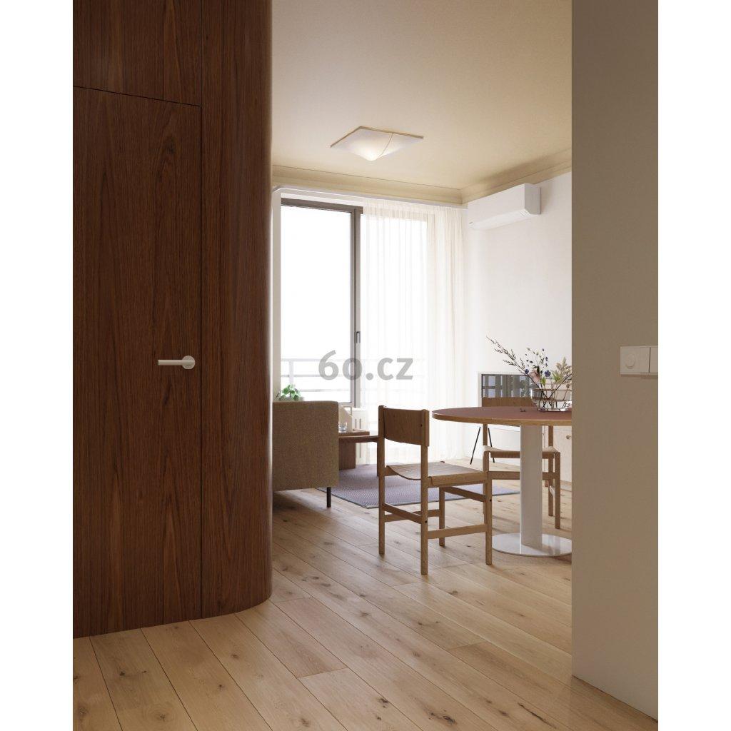 Axolight Nelly Straight, designové svítidlo z bílého textilu, 2x60W, 60x60cm