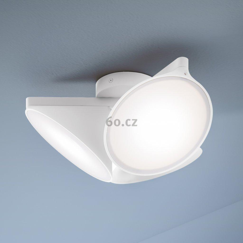 Axolight Orchid, bílé stropní svítidlo, 3x15W LED 3000K stmívatelné, prům. 38,2cm