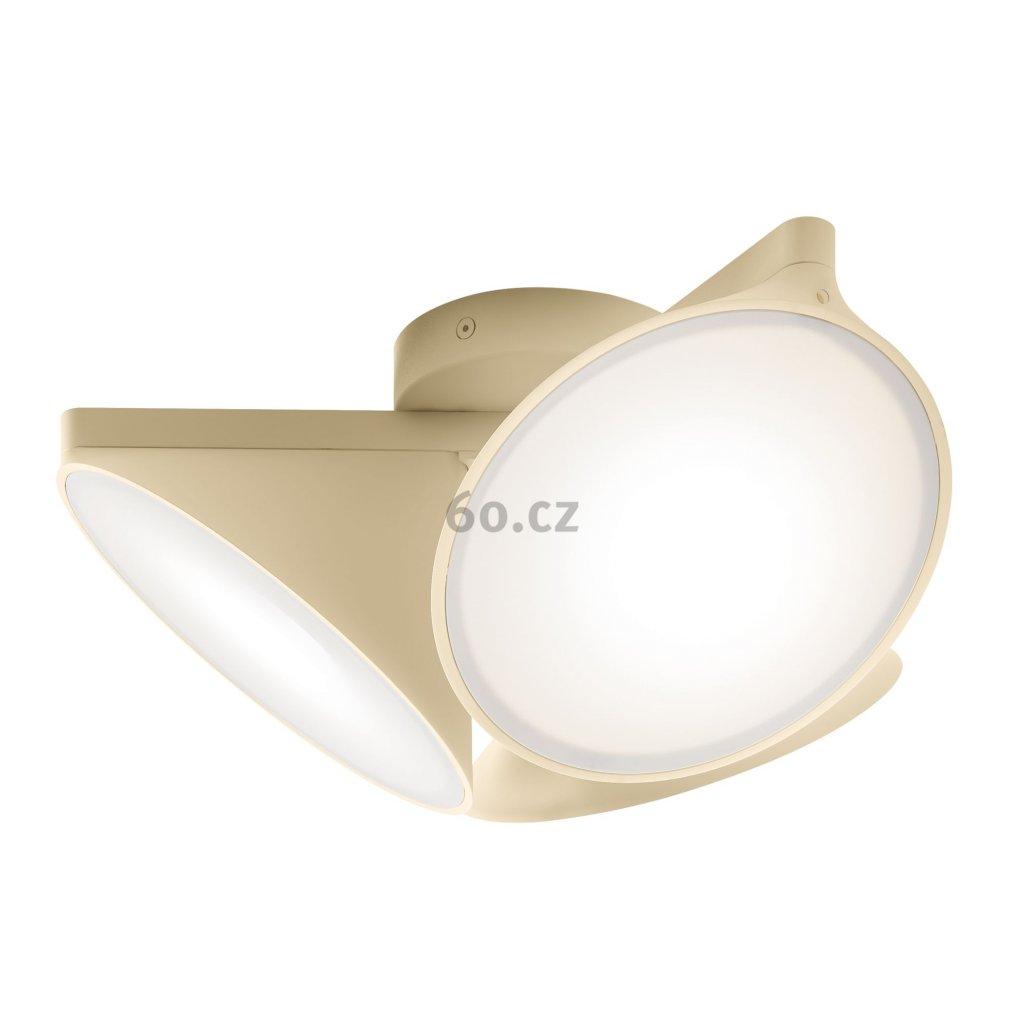 Axolight Orchid, pískově béžové stropní svítidlo, 3x15W LED 3000K stmívatelné, prům. 38,2cm