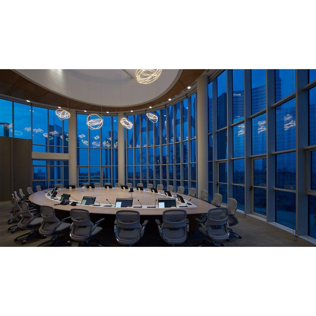 Artemide Copernico sospensione, designové závěsné LED svítidlo, 38W LED, hliník, 104x64cm