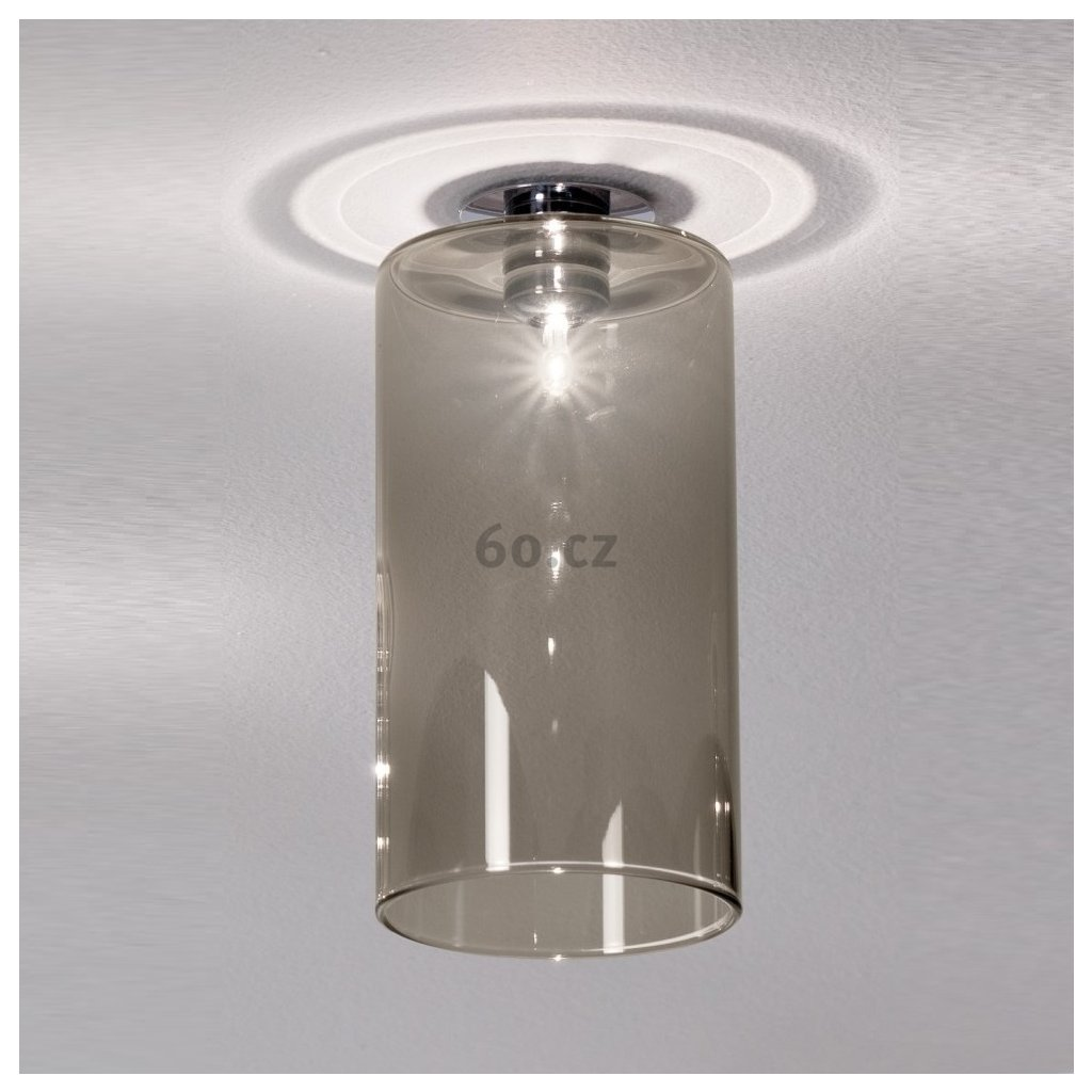 Axolight Spillray MI stropní svítidlo z šedého kouřového skla, LED 1,5W G4 průměr 10cm, zapuštěná montáž