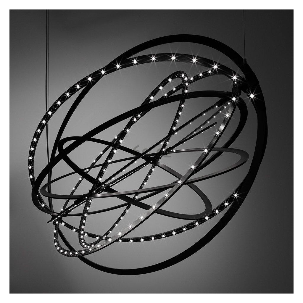 Artemide Copernico sospensione, designové závěsné LED svítidlo, 38W LED, černá, 104x64cm