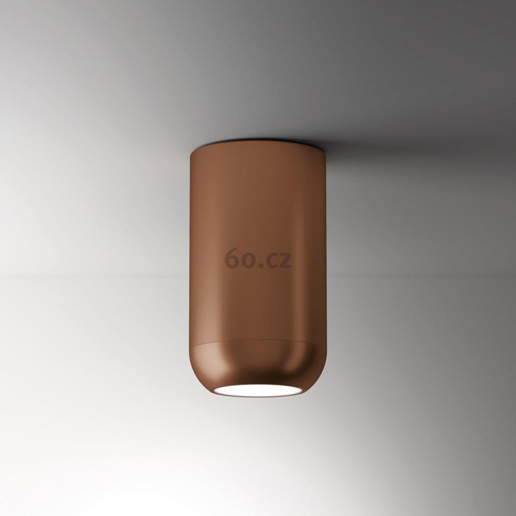Axolight Urban G, bronzové stropní svítidlo, 15W LED 3000K stmívatelné, výška 23,8cm