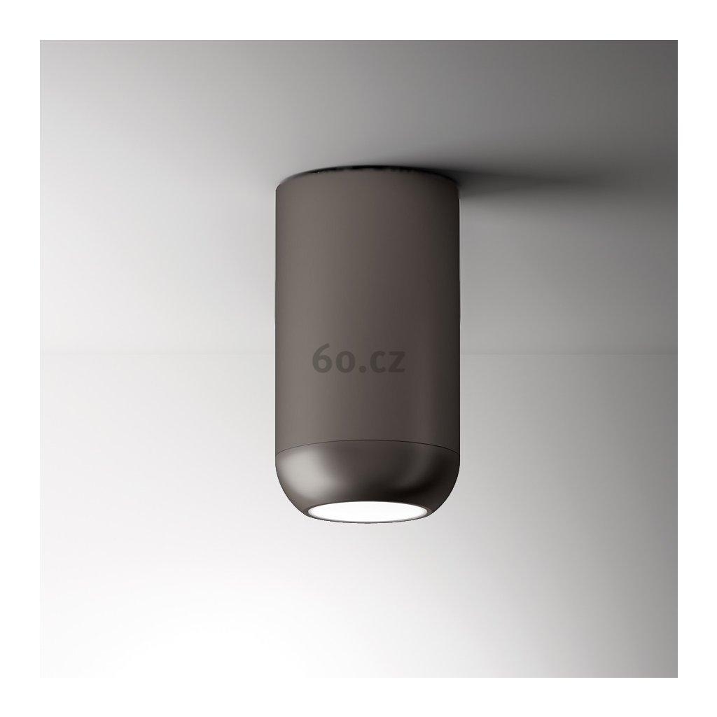 Axolight Urban G, niklové stropní svítidlo, 15W LED 3000K stmívatelné, výška 23,8cm