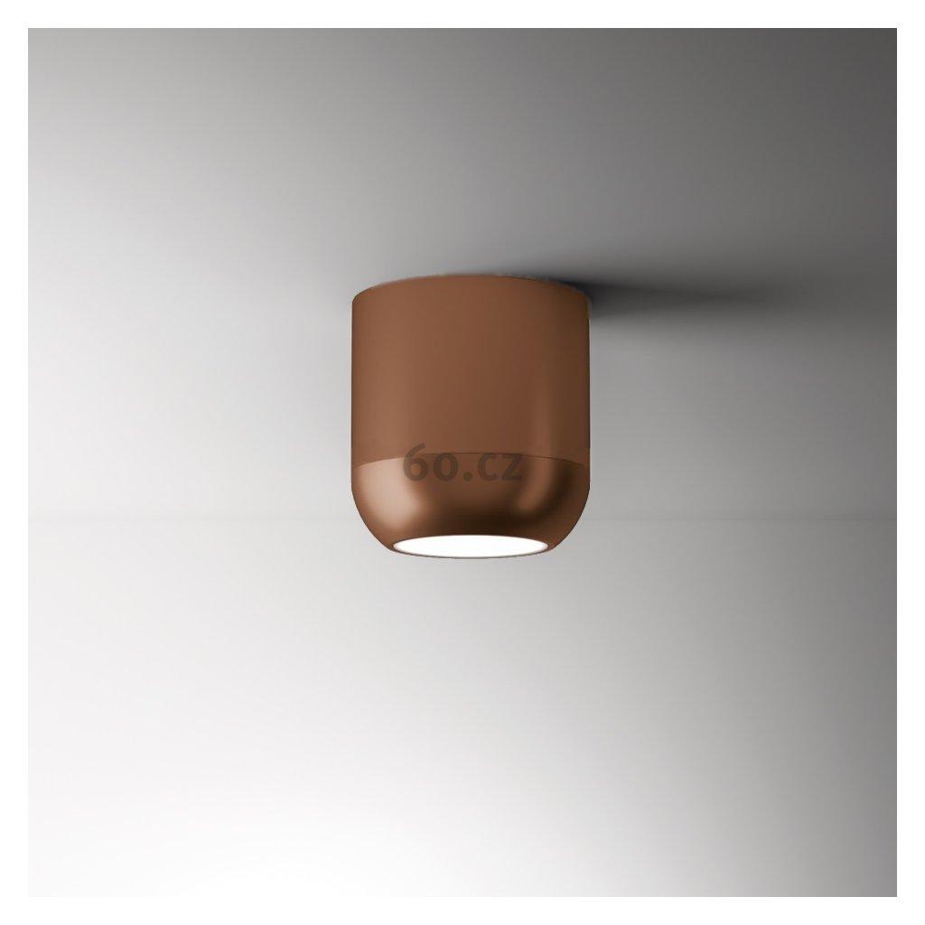 Axolight Urban M, bronzové stropní svítidlo, 15W LED 3000K stmívatelné, výška 13,8cm