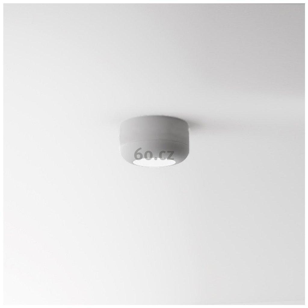 Axolight Urban Mini P, bílé stropní svítidlo, 8W LED 3000K stmívatelné, výška 3,5cm