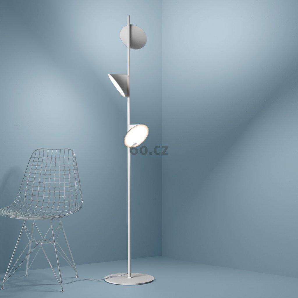 Axolight Orchid, bílá stojací lampa se stmívačem, 3x15W LED 3000K, výška 184cm