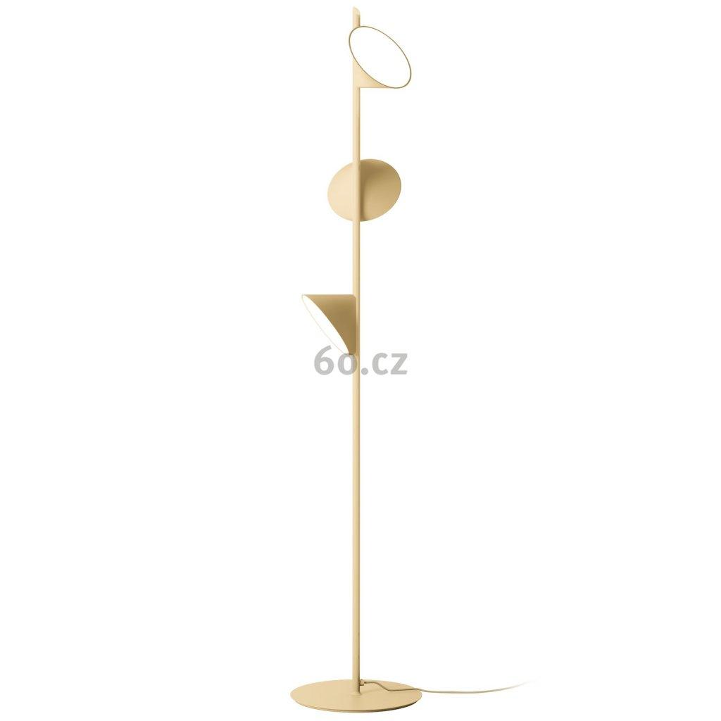 5913 4 axolight orchid piskove bezova stojaci lampa se stmivacem 3x15w led 3000k vyska 184cm