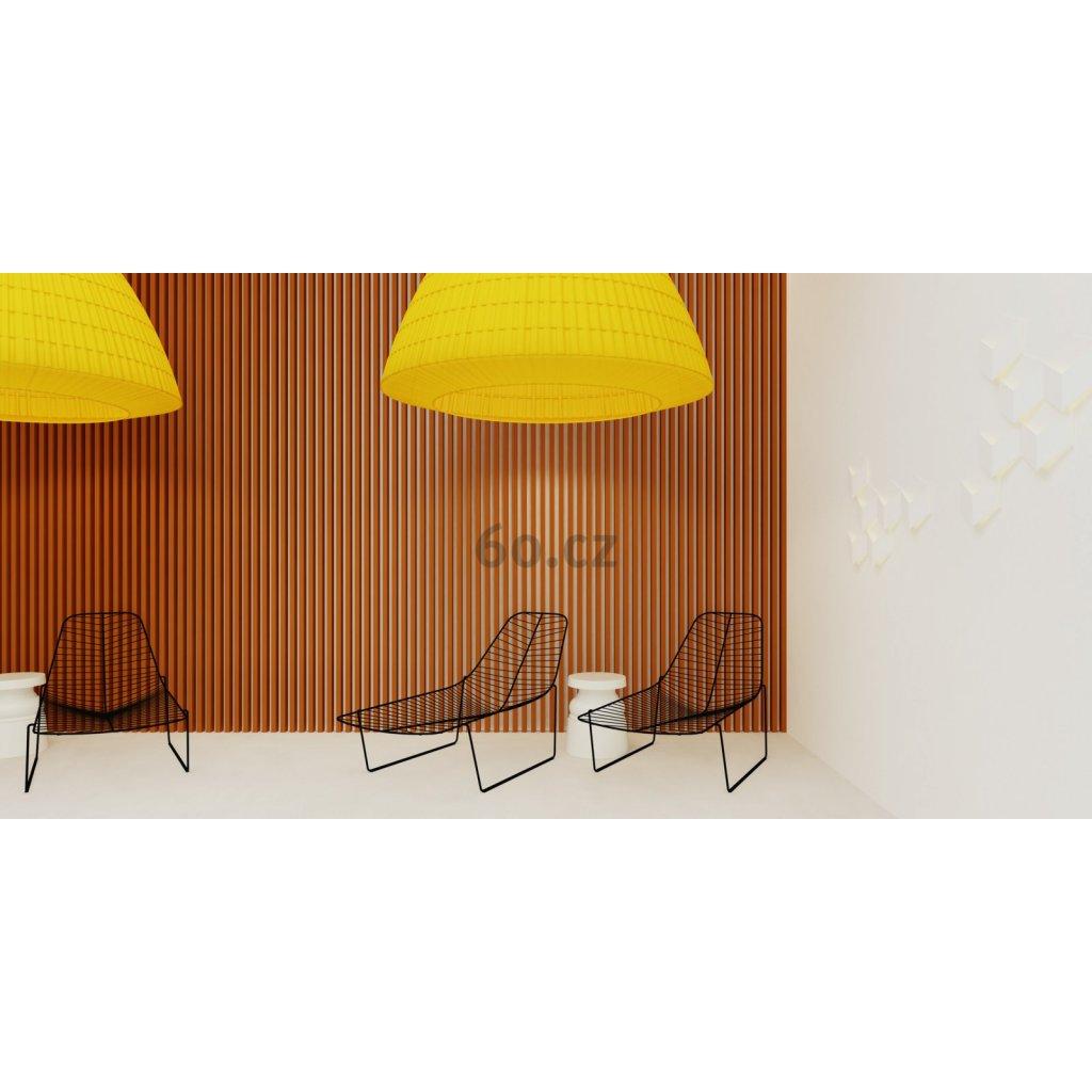 5967 5 axolight bell 118 zavesne svitidlo ze zluteho textilu 4x75w e27 prum 118cm