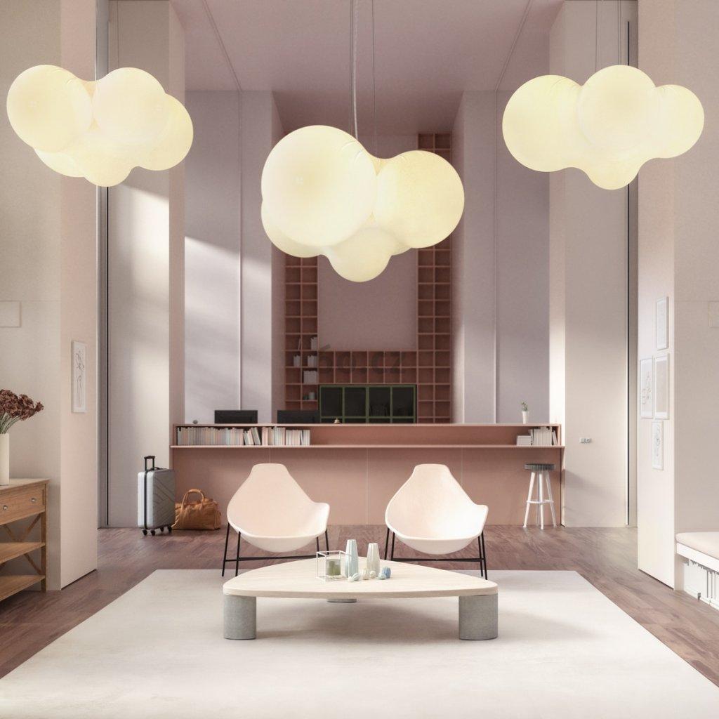 Axolight Cloudy, rozměrné závěsné svítidlo, 92W LED 3000K stmívatelné, prům. 128cm