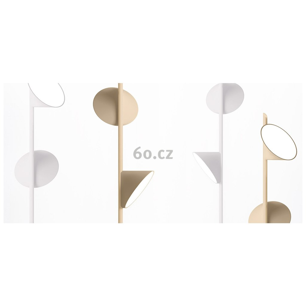 Axolight Orchid, pískově béžové závěsné svítidlo, 3x15W LED 3000K stmívatelné, výška 97cm