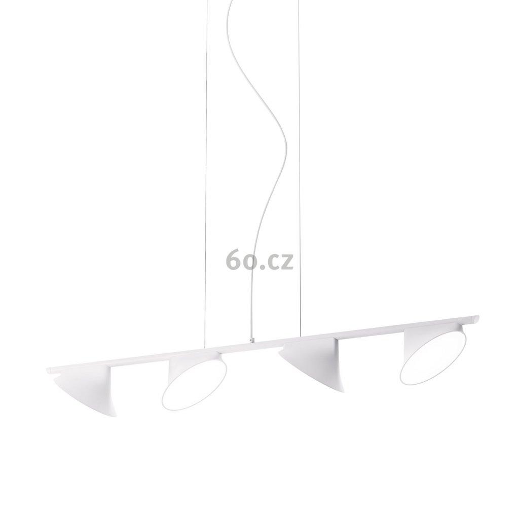 Axolight Orchid, bílé závěsné svítidlo, 4x15W LED 3000K stmívatelné, délka 133,5cm