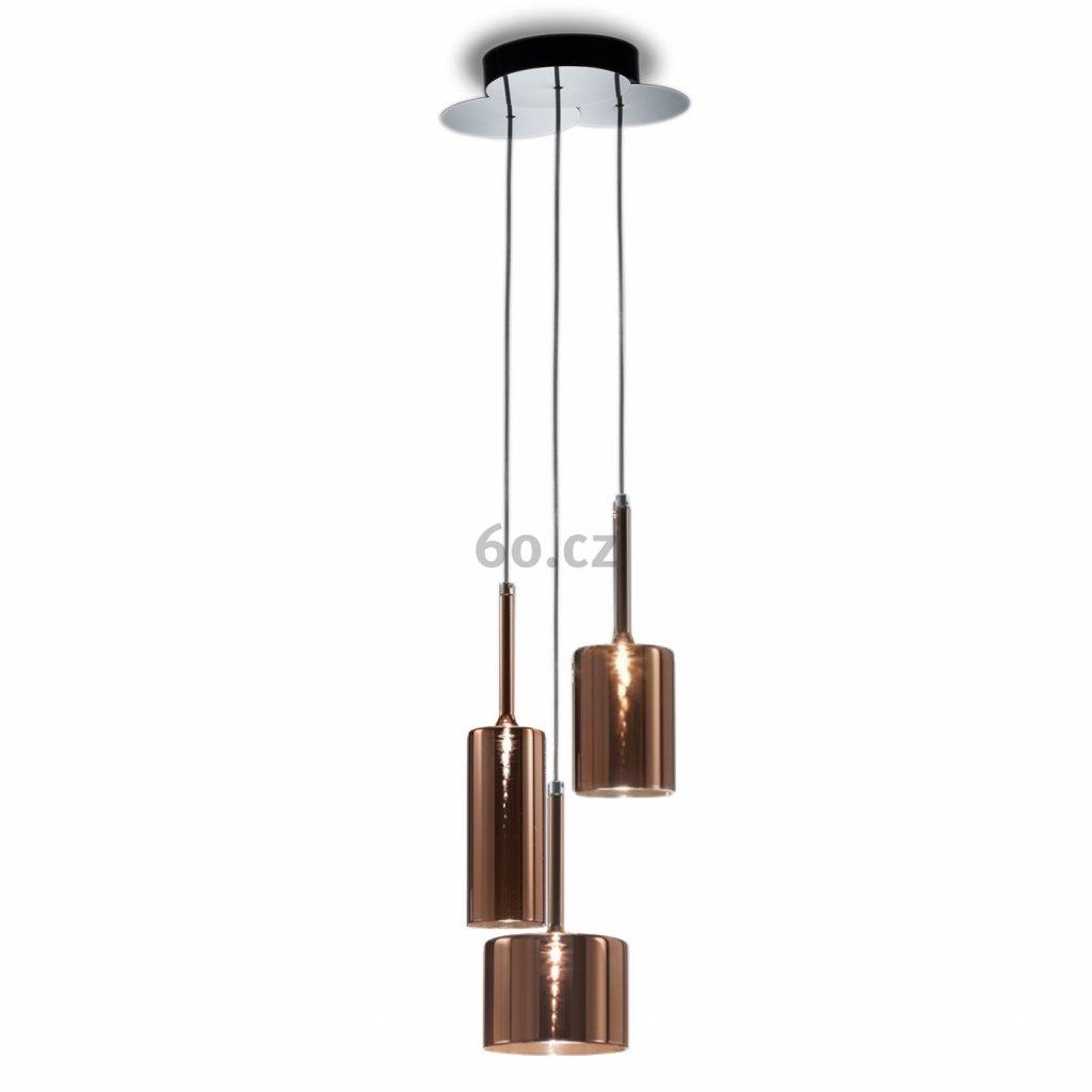 6336 5 axolight spillray 3 zavesne svitidlo z bronzem pokoveneho skla led 3x1 5w g4 delka 200cm
