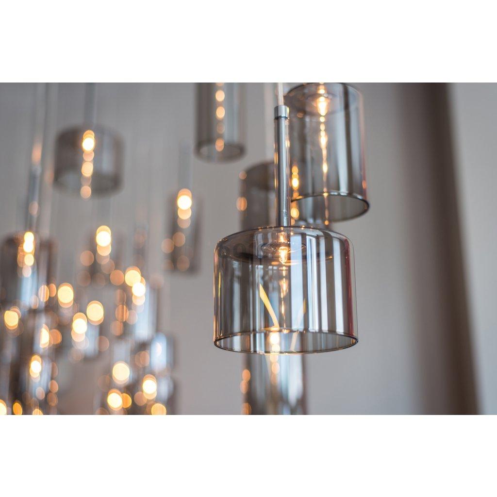 Axolight Spillray 3, závěsné svítidlo z křišťálového skla, LED 3x1,5W G4 délka 200cm