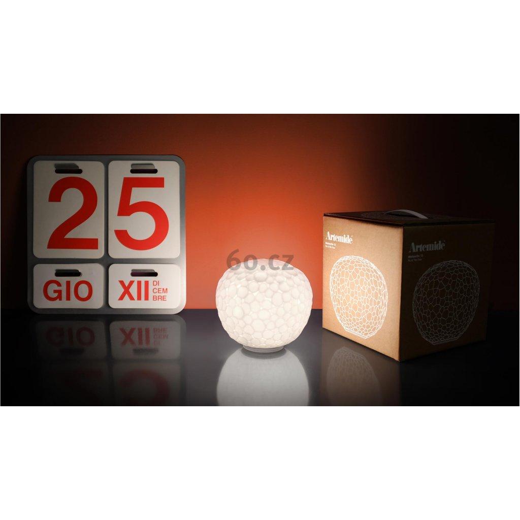 Artemide Meteorite 35 table , stolní designová lampička z foukaného skla, 1x150W E27, prům. 35cm