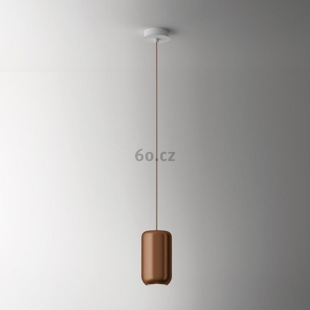 Axolight Urban M, bronzové závěsné svítidlo, 15W LED 3000K stmívatelné, výška 26cm