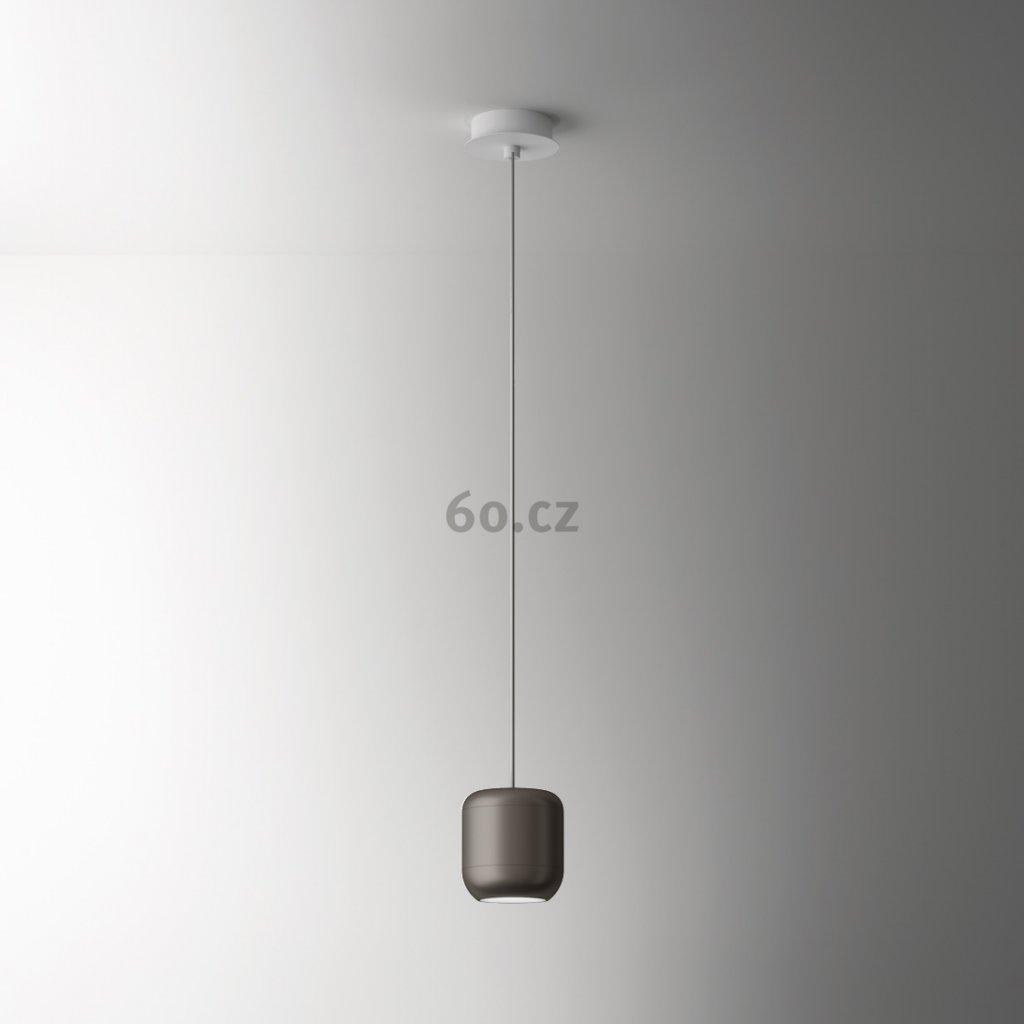 Axolight Urban P, niklové závěsné svítidlo, 15W LED 3000K stmívatelné, výška 16cm