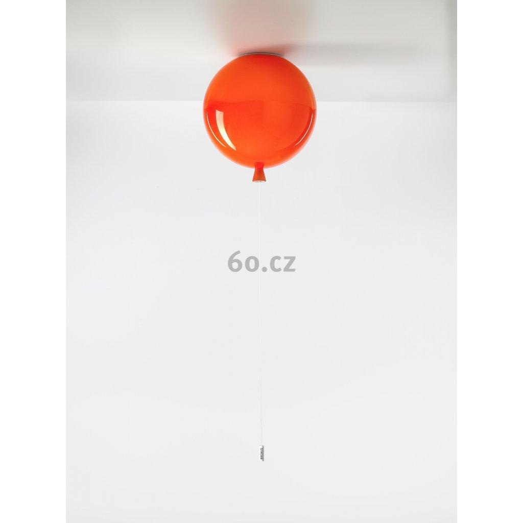 6726 7 brokis memory stropni svitici balonek z oranzoveho skla 1x15w e27 prum 30cm