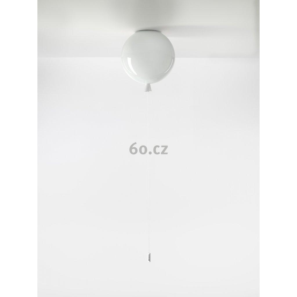 6741 7 brokis memory stropni svitici balonek ze bileho skla 1x15w e27 prum 25cm