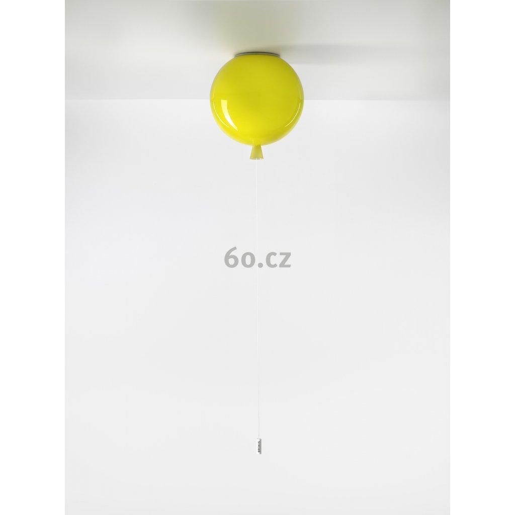 6744 7 brokis memory stropni svitici balonek ze zluteho skla 1x15w e27 prum 25cm