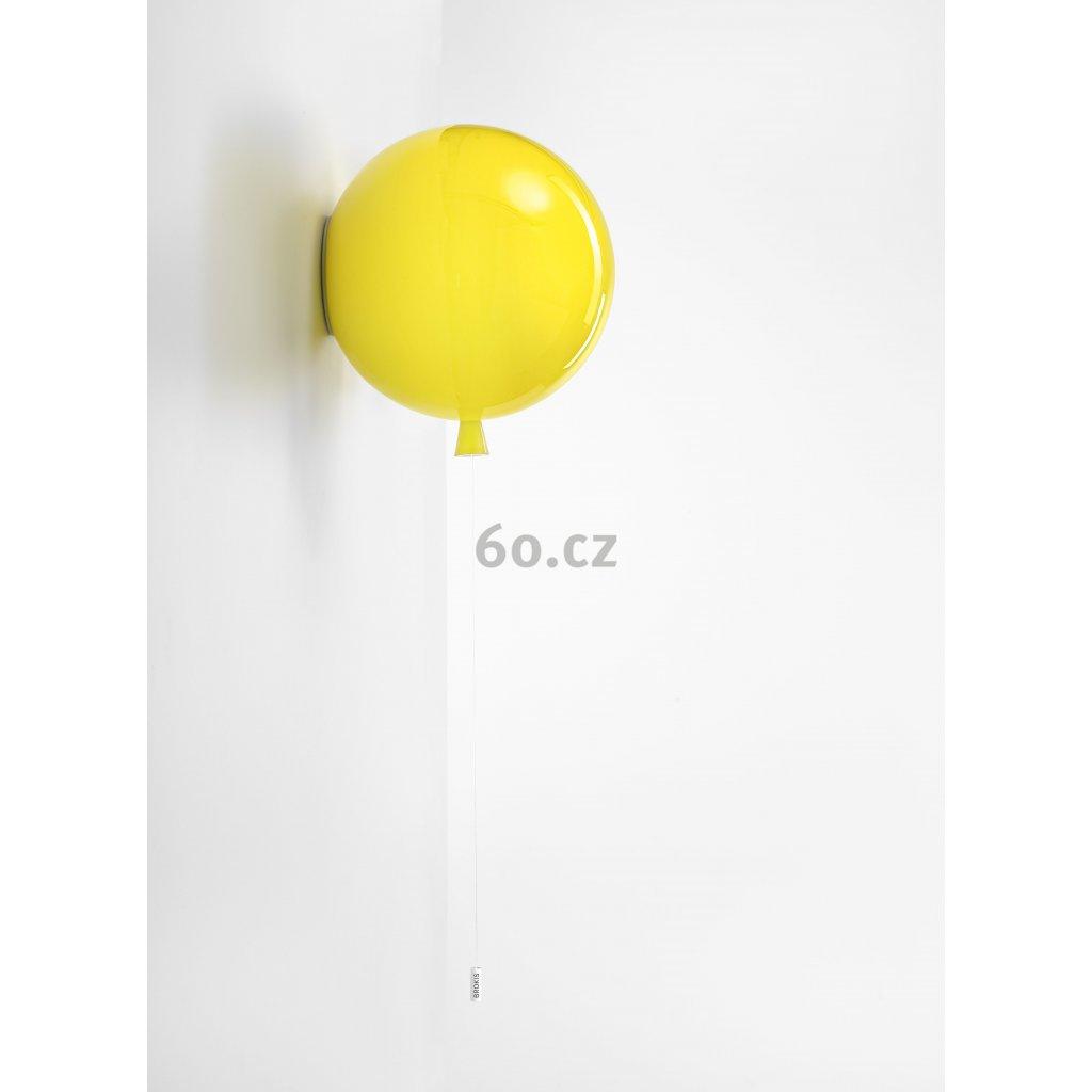 6798 6 brokis memory nastenny svitici balonek ze zluteho skla 1x15w e27 prum 30cm