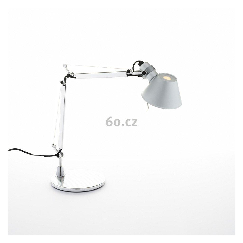 Artemide Tolomeo Micro tavolo, hliníková stolní lampa, 1x46W E14, 45+37 cm
