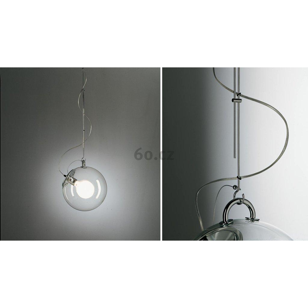 Artemide Miconos sospensione, designové závěsné svítidlo, 1x23W, transparentní, průměr 30 cm