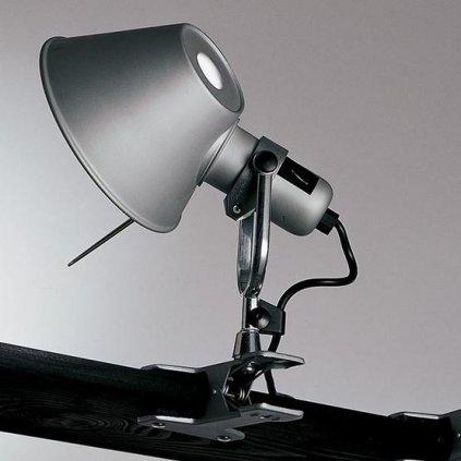 Artemide Tolomeo pinza, hliníková lampa s klipem, 10W LED 3000K, 23 cm
