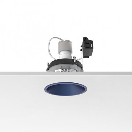 Flos Easy Kap 80 Round Adjustable, modrá bodovka, 1x max50W PAR16, prům. 8cm
