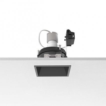 Flos Easy Kap 80 Square Adjustable, černá bodovka, 1x max50W PAR16, 8x8cm