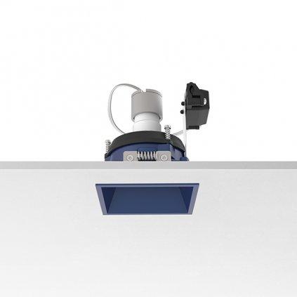 10398 3 flos easy kap 80 square adjustable modra bodovka 1x max50w par16 8x8cm