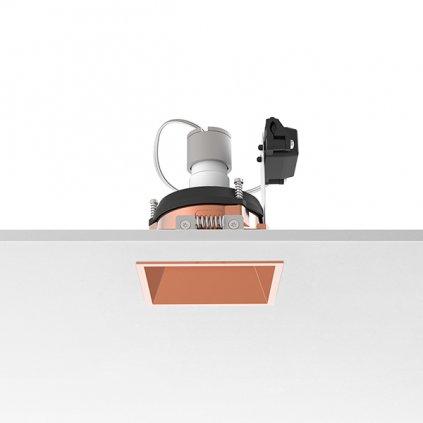Flos Easy Kap 80 Square Adjustable, měděná bodovka, 1x max50W PAR16, 8x8cm