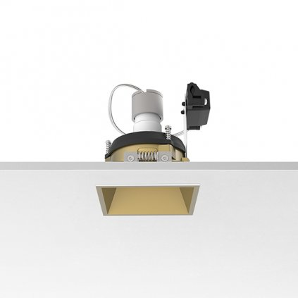 10404 3 flos easy kap 80 square adjustable zlata bodovka 1x max50w par16 8x8cm