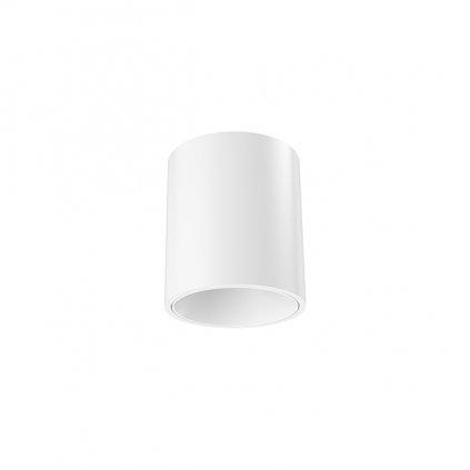 Flos Kap 80, bílé stropní svítidlo, 1x8,7W LED 2700K stmívatelné, prům. 8,3cm